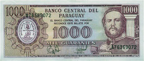 Currency Photos United States Dollar Paraguayan Guarani